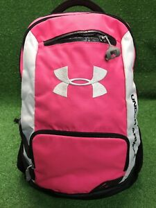 Under Armour Hot Pink Black Backpack School Sports Bag Fast Free Shipping