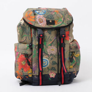 bf50db10bf1 GUCCI Backpack Bag Military Green 429037 9LNAX Purse Rucksack Auth New  Unused