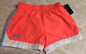 Girls Under Armour Shorts, Hot Pink With White Mesh Trim, Size 6 NWT $10.99
