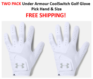 TWO PACK NEW Under Armour CoolSwitch Golf Glove Pick Hand & Size FREE SHIPPING