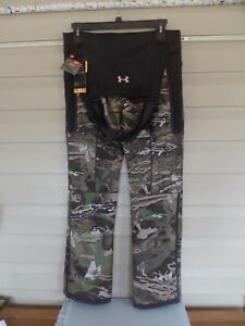 WOMEN'S UNDER ARMOUR STORM HUNTING BIBS.1282692 FOREST CAMO. NWT'S MSRP $169.99