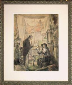 Original George Hand Wright NA Mixed Media Ladies Home Journal Illustration $1575.00