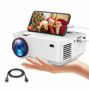 Mini Projector Synchronizing Smartphone Screen Portable Movie technology and LED