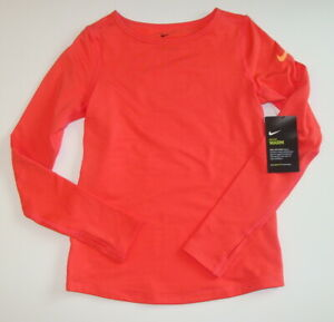 NWT Nike Girls Dri Fit Pro Warm Long Sleeve Shirt Top Size XS S M L 847098 $21.88