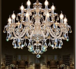 Crystal Pendant Chandelier Living Room Home Light Indoor Elegant Lamp Fixture $490.49