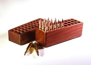 30 Rd Walnut Ammo Box For 6mm PPC