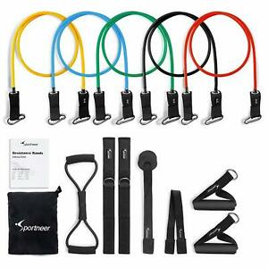 Resistance Bands  Exercise Band Set for Home Gym Workout with Door Anchor