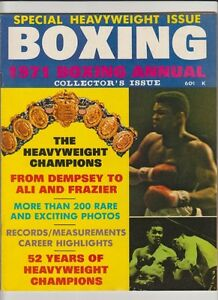 BOXING ANNUAL MAG MUHAMMAD ALI JOE LOUIS BOXING HOFers COLLECTOR EDITION 1971 $30.00