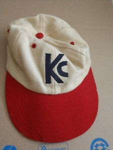 Vintage  60's Baseball Hat Fitted Wool letters KC Kansas City?