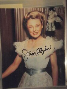 JUNE ALLYSON SIGNED COLOR PHOTOGRAPH