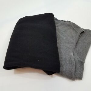 Cashmere lot of 1 lb 2 piece sweater cutter craft black gray recycle