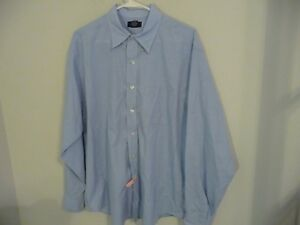 Brooks Brothers Sport mens size large L button down long sleeve short blue white $11.52