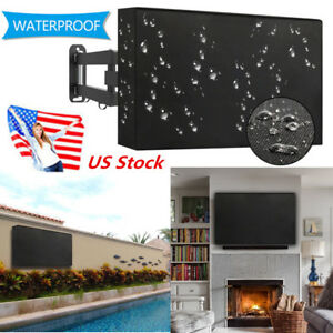 Black Outdoor TV Cover Protector Waterproof Dustproof for 55-58