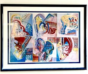 AWESOME CALMAN SHEMI  LITHOGRAPH SIGNED AND NUMBERED AP ISRAELI ART FRAMED