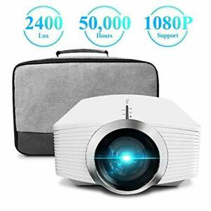 Mini Projector ELEPHAS 2400 Lux Home Theater Video Projector Support 1080P