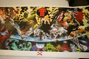 Giant Marvel Limited Lithograph Earth X Monster Poster Print FREE SHIPPING! $90.00