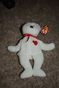 Ty beanie babies Valentino PE flaw with brown nose & Claude the crab PVC