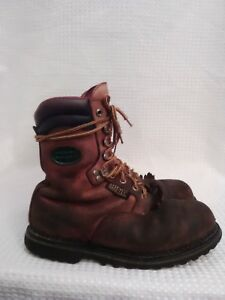 Georgia Work Boots Mens Leather 9.5 M Gore Tex Oil Resistant Thinsulate Ultra