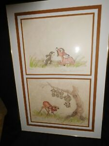 Disney Original Lithographs Bambi Suites I thru V. Suite I
