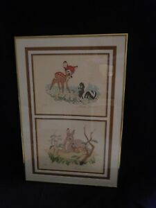 Disney Original Lithographs Bambi Ste I thru V. Ste V