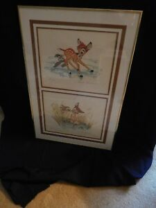 Disney Original Lithographs Bambi Ste I thru V. Ste II