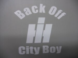2 LG BACK OFF INTERNATIONAL HARVESTER DECAL STICKER IH ANY COLOR 4x4 4WD TRUCK