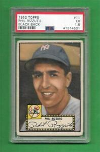 1952 Topps #11 Phil Rizzuto ** PSA Fair 1.5 * New York Yankees old baseball card