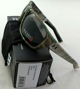 Under Armour Launch ANSI Sunglasses Realtree Xtra Camo Grey Lens Microfiber Pouc