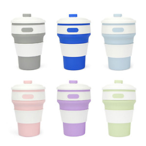 350ML Silicone Telescopic Coffee Cup Folding Collapsible Travel Camping Outdoor