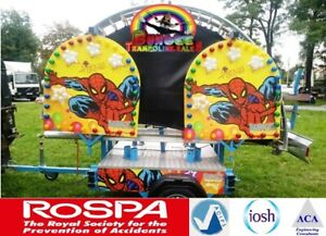 Four Bed Mobile Trailer Mounted Bungee Trampolines FULL ADIPS DESIGN REVIEW