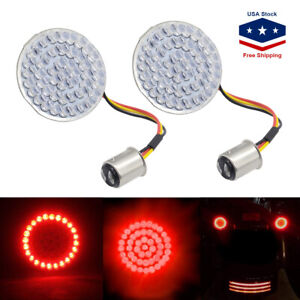 2'' Bullet-style 1157 Rear Red LED Turn Signal Lights Bulbs For Harley Davidson