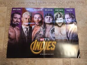 BULLET CLUB Best of the Indies Part 3 Poster 17x22 Pro Wrestling Crate OMEGA