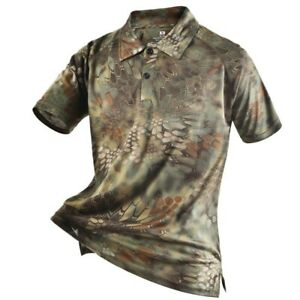 Tactical Camouflage Polo Shirt Summer Casual Summer Sports Clothing Men#x27;s Shirts