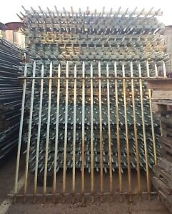 Large Lot of Reclaimed Military School Iron Fencing 1200 Linear Feet