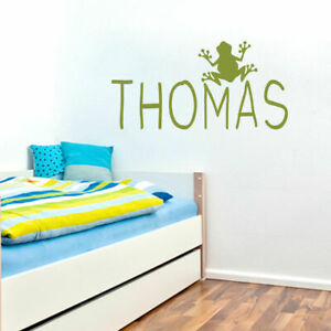 Custom Name With Frog Wall Decal Personalized Nursery amp; Kids Room Animal
