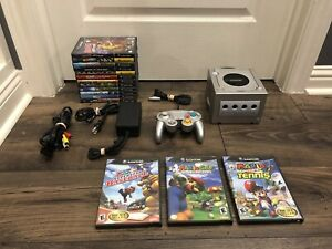Platinum Nintendo GameCube Bundle (DOL-101) - W Mario Sports Games