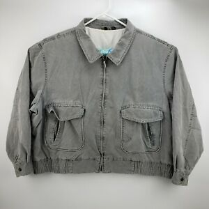 Vintage Members Only Great Horizon Express Men's Denim Jacket Gray Size 4XL