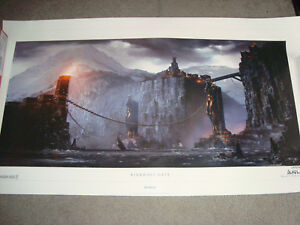 Dragon Age Kirkwall Gate Lithograph signed numbered 224500 bioware 22