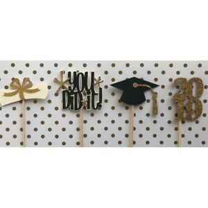 2019 Graduation Cake Decor Food Sticks Cupcake Toppers party supplies