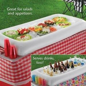 Inflatable Serving Bar Salad Buffet Ice Cooler Picnic Drink Table Party Swimming