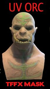 TFFX Silicone Halloween Mask. The UV Orc Haunted house mask Not Cfx Or Spfx