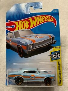 HOT WHEELS '68 CHEVY NOVA - HW SPEED GRAPHICS - NIB