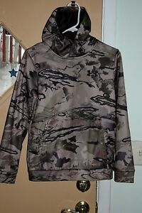 Under Armour Pullover Hoodie Camo Boys Sz YLG Very Good Condition!