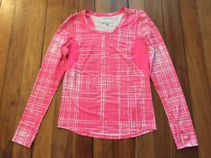 Brooks Running Women's Athletic Long Sleeve Tee T-Shirt - Pink - Sz S Small