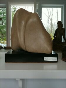 STONE CONTEMPORARY SCULPTURE WITH BASE SIGNED quot;STEPHANIE DOLORESquot; $799.00