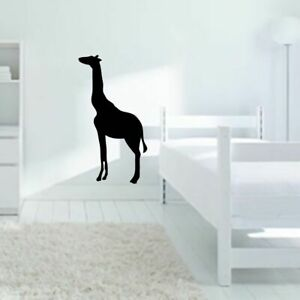 Giraffe Silhouette Wall Decal Animals Safari Zoo Nursery Kids Wall Art