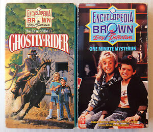 Encyclopedia Brown The Boy Detective One Minute Mysteries Ghostly Rider VHS $15.96