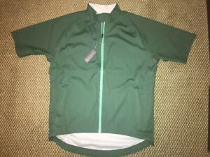 NWT $248 Peter Millar Crown Sport Green Zip-front Short Sleeve Rain Shirt Large