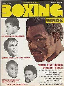 BOXING GUIDE MAG MUHAMMAD ALI GEORGE FOREMAN JOE FRAZIER RON LYLE OCTOBER 1974 $27.00