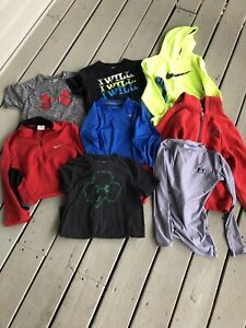 Lot of 8 UNDER ARMOUR & NIKE Youth Boys Medium Top Hoodie Pullover Shirt